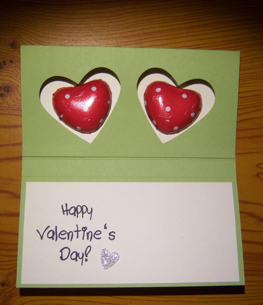 Verpackung zum Valentinstag grün 2