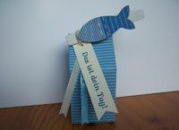 Verpackung zur Konfirmation Fisch