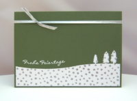 Weihnachtskarte Bäume