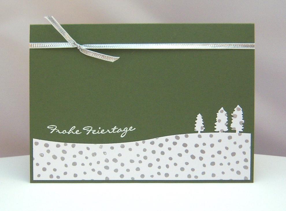 Weihnachten - Weihnachtskarte Bäume