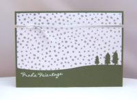 Weihnachtskarte Bäume grün