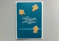 Weihnachtskarte Lebkuchenmaennchen
