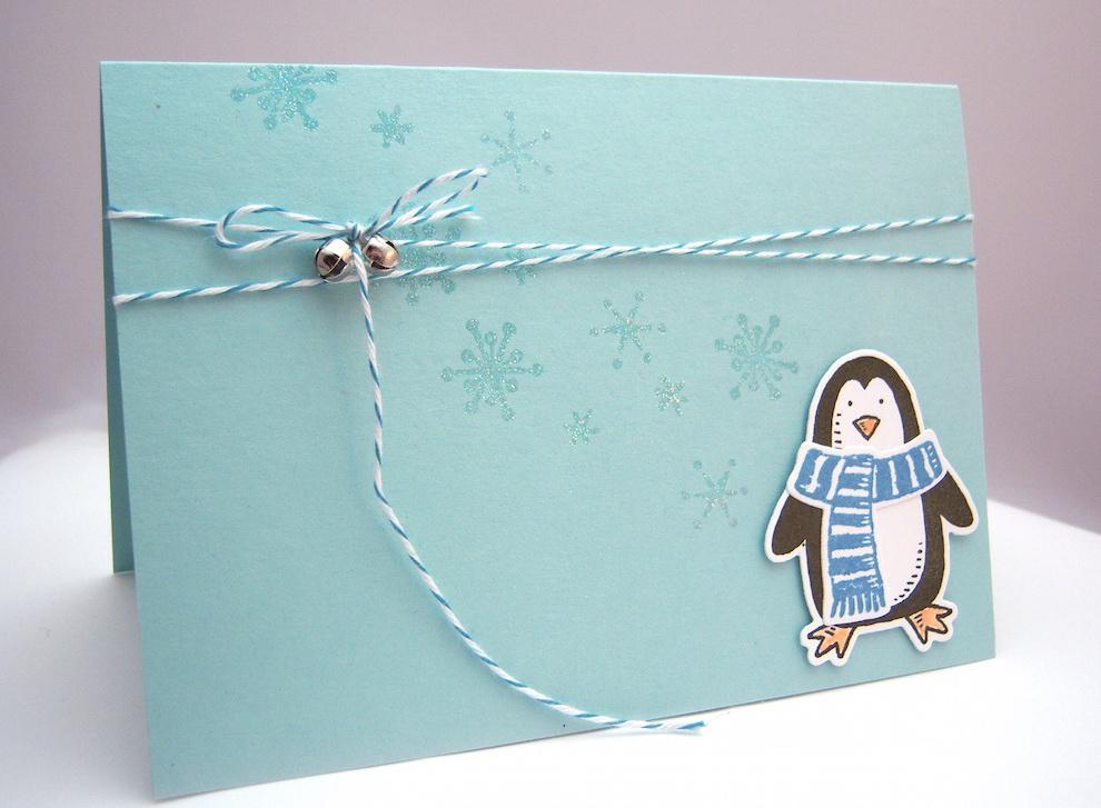 Weihnachtskarte Pinguin 2