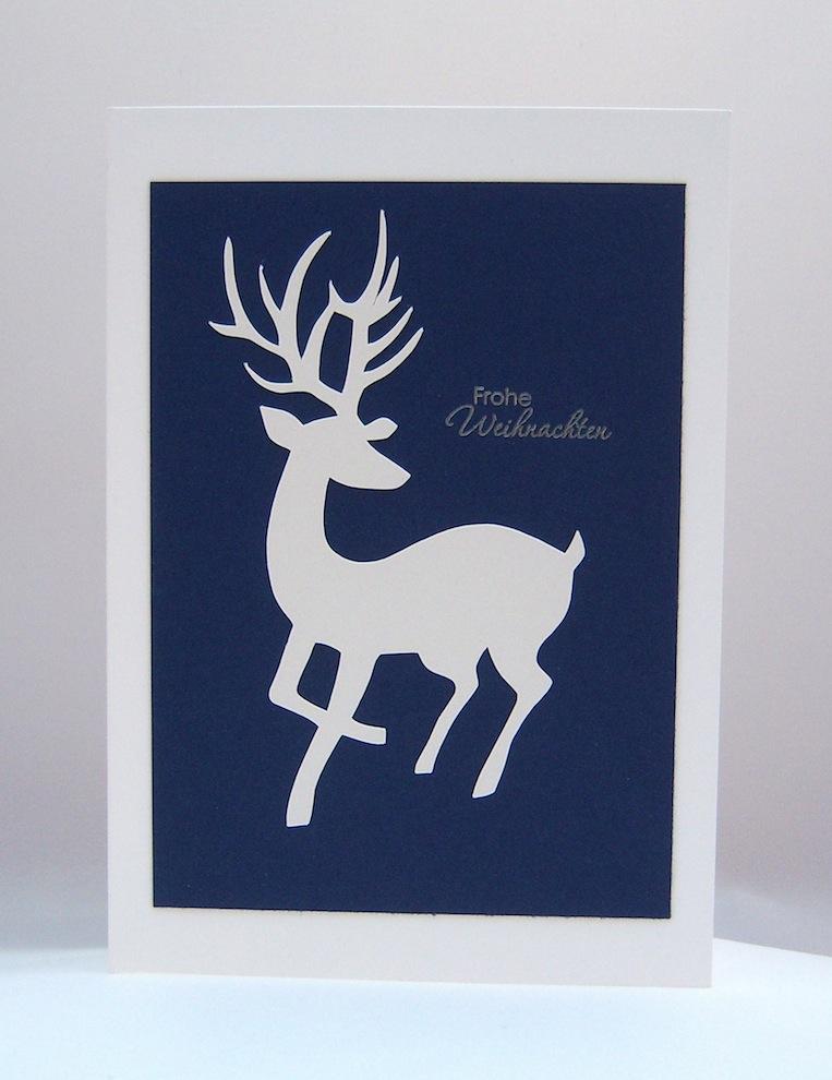 Weihnachtskarte Rentier