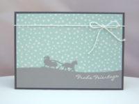 Weihnachtskarte Schlitten