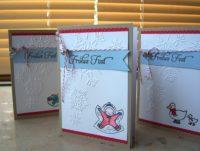 Weihnachtskarte Schneeflocken mit coloriertem Motiv 1
