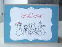 Weihnachtskarte Schneemaenner