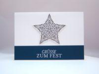 Weihnachtskarte Stern