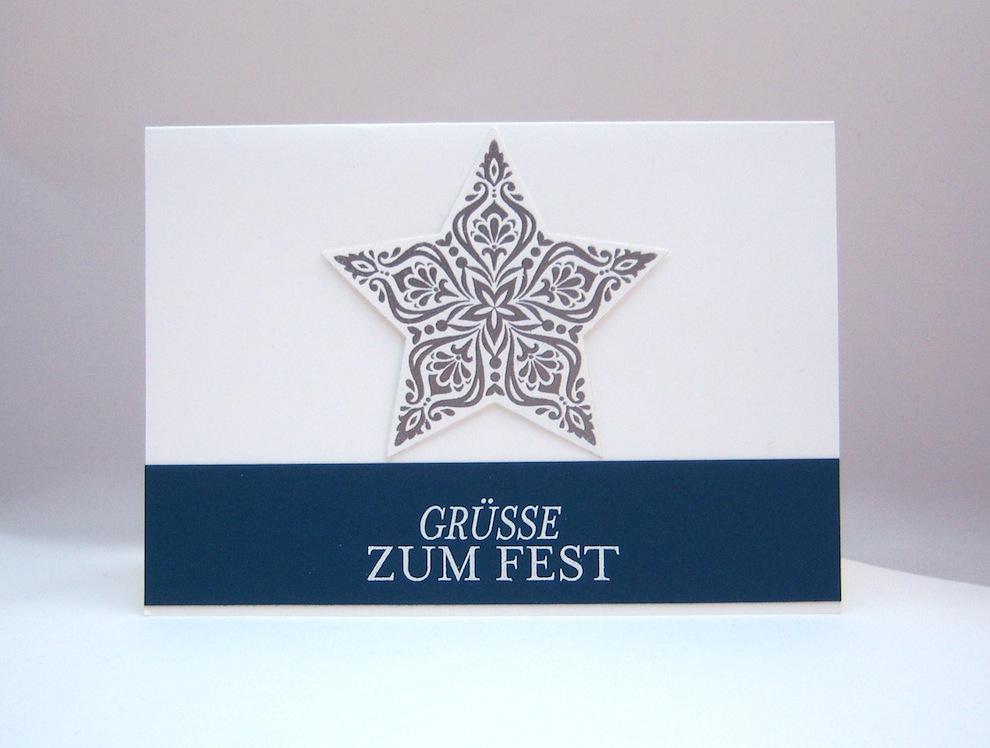Weihnachten - Weihnachtskarte Stern