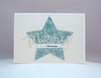 Weihnachtskarte Stern Merry Christmas