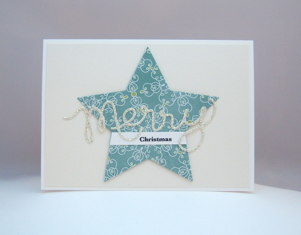 Weihnachten - Weihnachtskarte Stern Merry Christmas