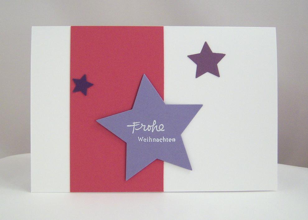Weihnachten - Weihnachtskarte Sterne