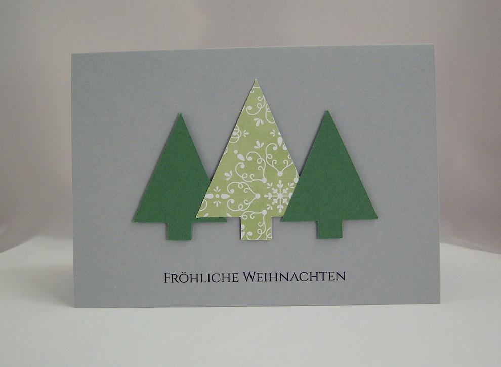Weihnachten - Weihnachtskarte Tannenbäume
