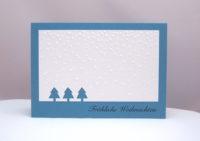 Weihnachtskarte Tannenbäume Schnee_1