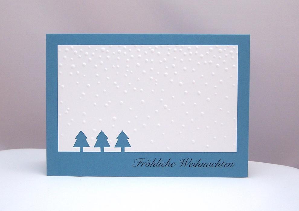 Weihnachtskarte_Tannenbaeume_Schnee_1