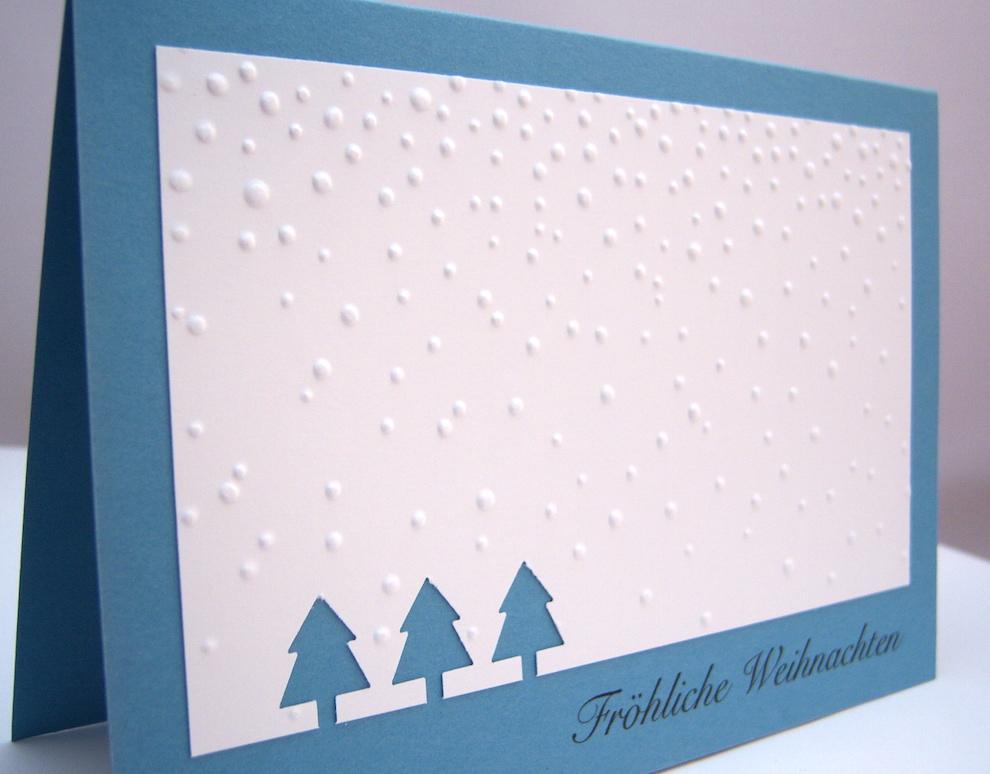 Weihnachtskarte Tannenbäume Schnee_2