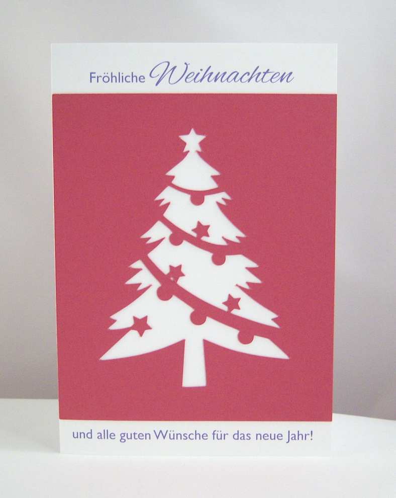 Weihnachten - Weihnachtskarte Tannenbaum