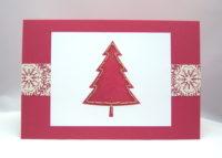 Weihnachtskarte Tannenbaum gestickt