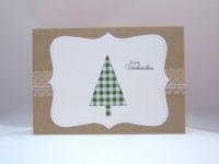 Weihnachtskarte Tannenbaum grün