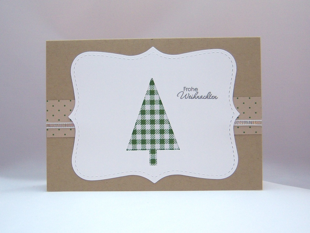 Weihnachten - Weihnachtskarte Tannenbaum grün