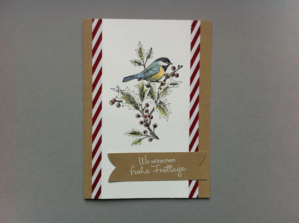 Weihnachten - Weihnachtskarte Vogel
