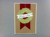 Weihnachtskarte Weihnachtskranz