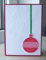 Weihnachtskarte Weihnachtskugel
