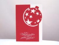 Weihnachtskarte Weihnachtskugel Sterne_1