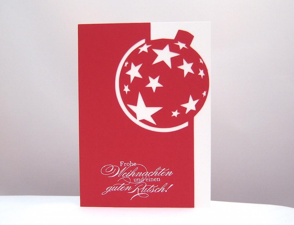 Weihnachten - Weihnachtskarte Weihnachtskugel Sterne_1