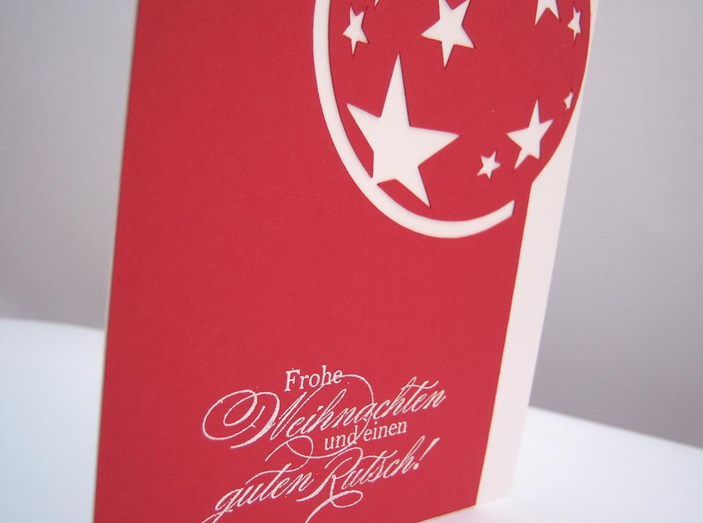 Weihnachtskarte Weihnachtskugel Sterne_2