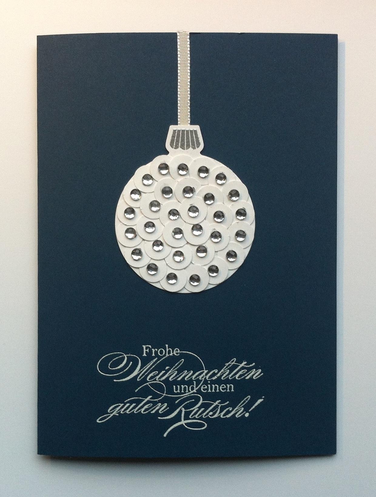 Weihnachten - Weihnachtskarte Weihnachtskugel mit Steinen