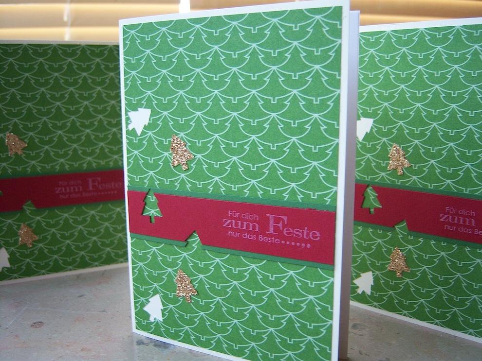Weihnachten - Weihnachtskarte kleine Weihnachtsbaeumchen 1