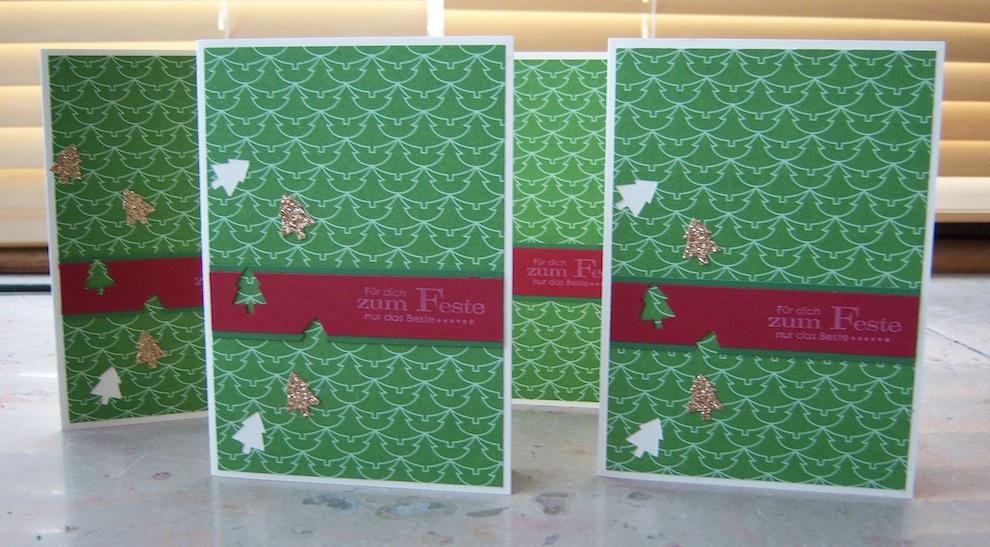 Weihnachtskarte kleine Weihnachtsbaeumchen 2