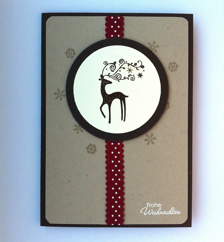 Weihnachten - Weihnachtskarte kleines Rentier