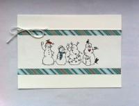 Weihnachtskarte schlicht Schneemaenner