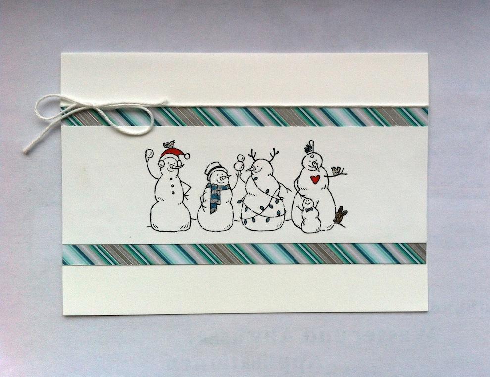 Weihnachten - Weihnachtskarte schlicht Schneemaenner