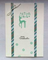 Weihnachtskarte schlicht kleines Rentier