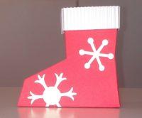 Weihnachtsverpackung Nikolausstiefel 1
