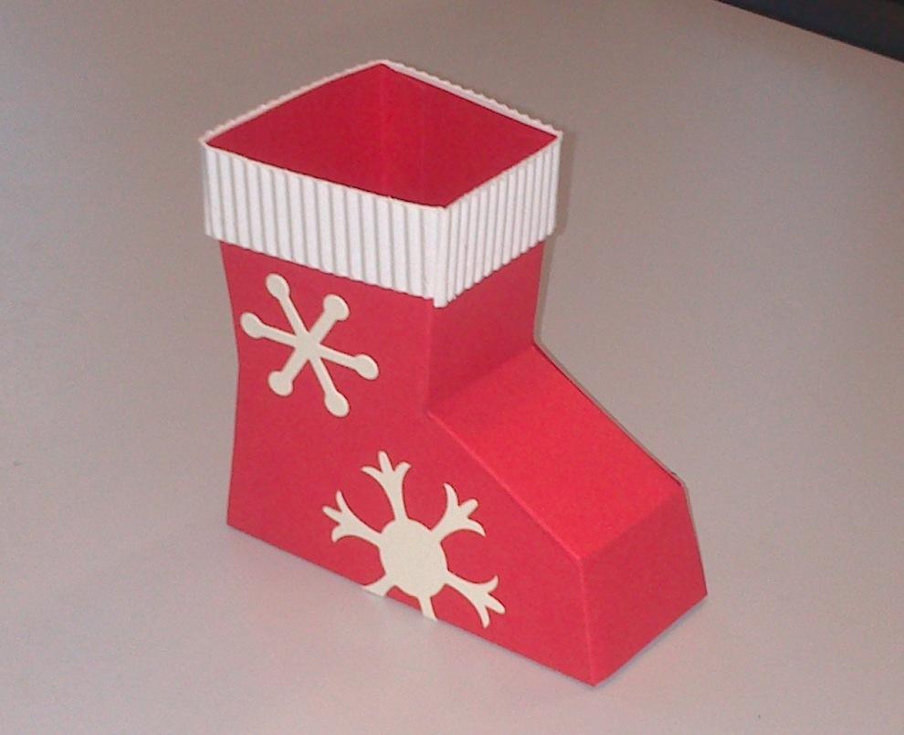 Weihnachtsverpackung Nikolausstiefel 2