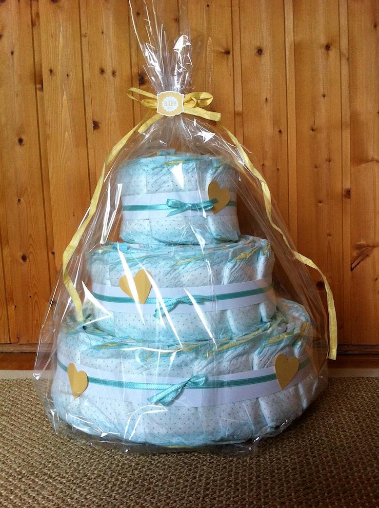 Geburt / Taufe, Verpackungen - Windeltorte zur Geburt/Taufe